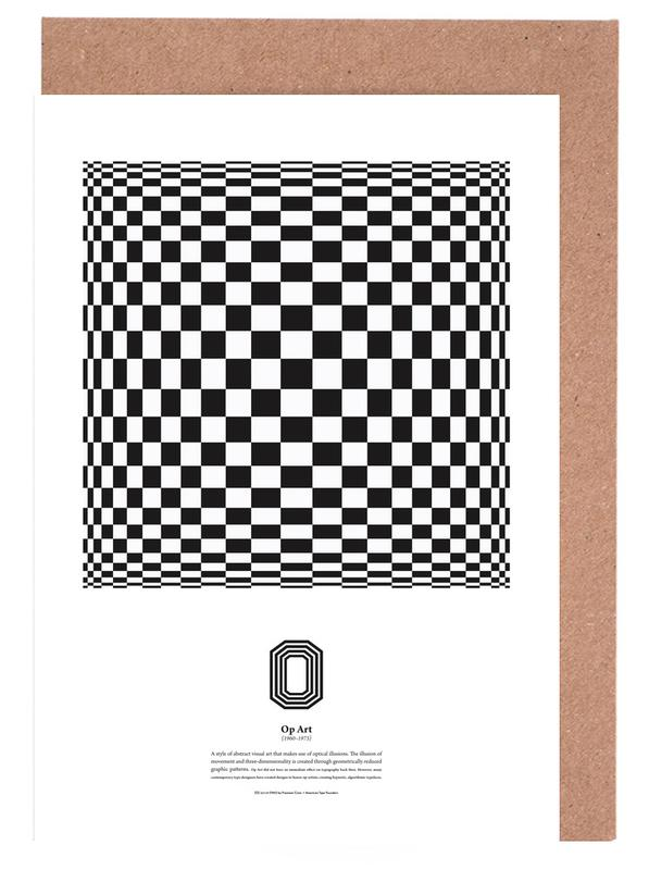 O op art as greeting card set by the true type juniqe home stationery greeting cards m4hsunfo
