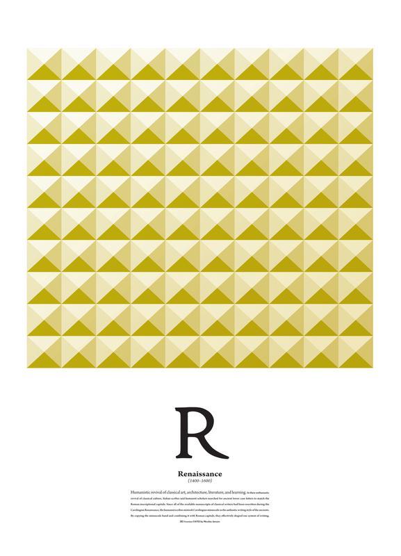 R - Renaissance as Canvas Print by The True Type | JUNIQE