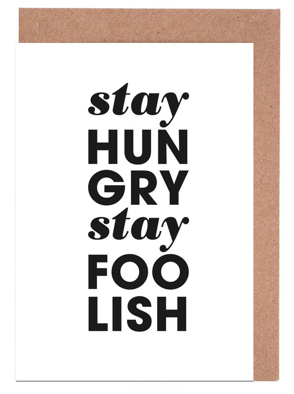Stay hungry stay foolish steve jobs as greeting card set juniqe home stationery greeting cards m4hsunfo