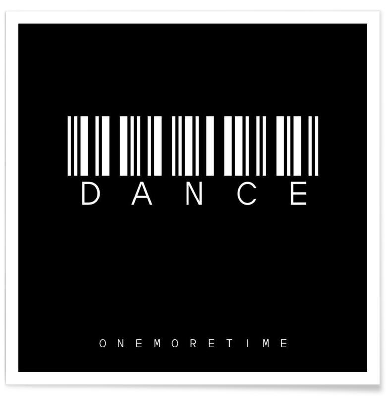 Barcode dance black as premium poster by steffi louis juniqe