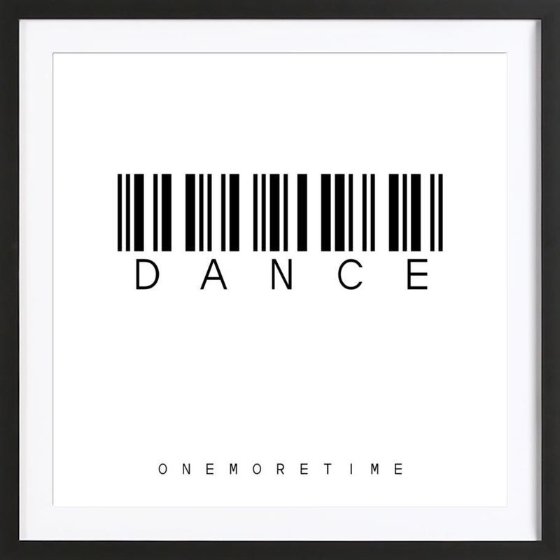 Barcode DANCE as Poster in Wooden Frame by Steffi Louis   JUNIQE