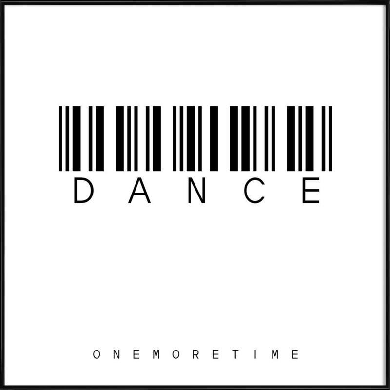 Barcode DANCE as Poster in Standard Frame by Steffi Louis | JUNIQE UK