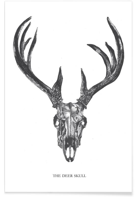The Deer Skull as Premium Poster by Mathilde Olsen | JUNIQE Green Bathroom Designs With Pictures Of Olsen Html on