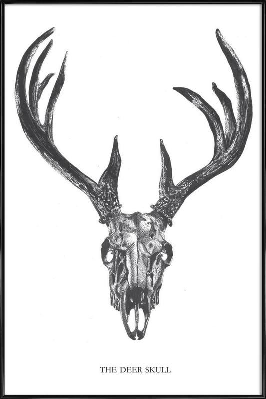 The Deer Skull as Poster in Standard Frame by Mathilde Olsen | JUNIQE