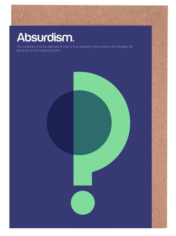 Absurdism as greeting card set by gens carreras juniqe uk home stationery greeting cards m4hsunfo