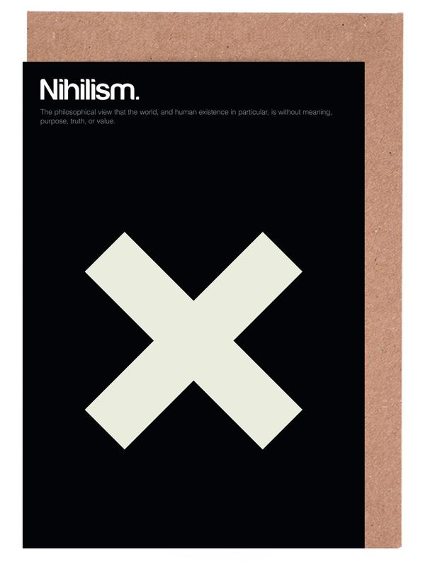Nihilism as greeting card set by gens carreras juniqe home stationery greeting cards m4hsunfo