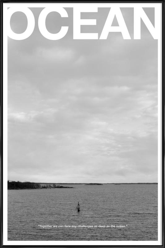 Ocean as Poster in Standard Frame by Alexsander Shaje | JUNIQE