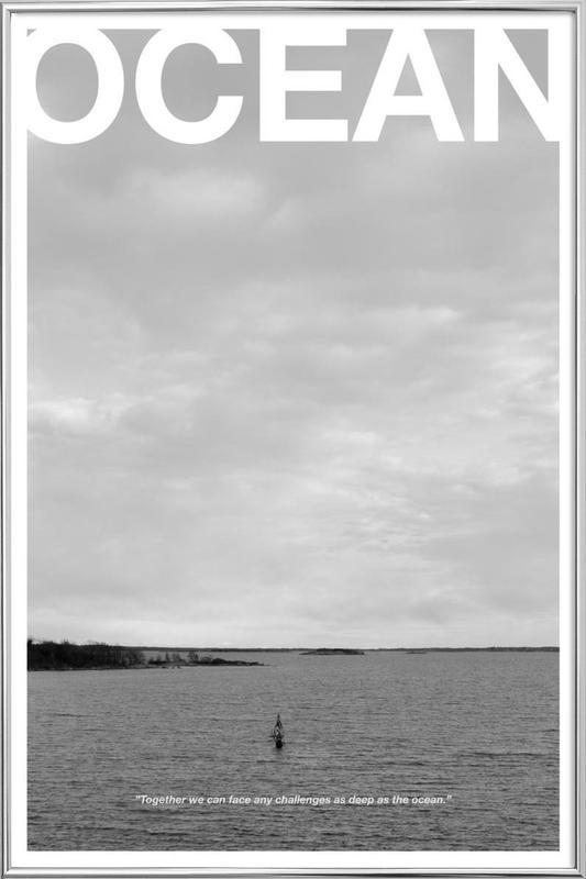 Ocean as Poster in Aluminium Frame by Alexsander Shaje | JUNIQE