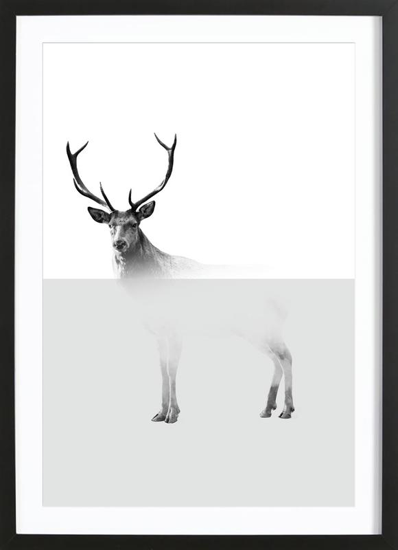 Deer as Poster in Wooden Frame by The Wall Shop   JUNIQE
