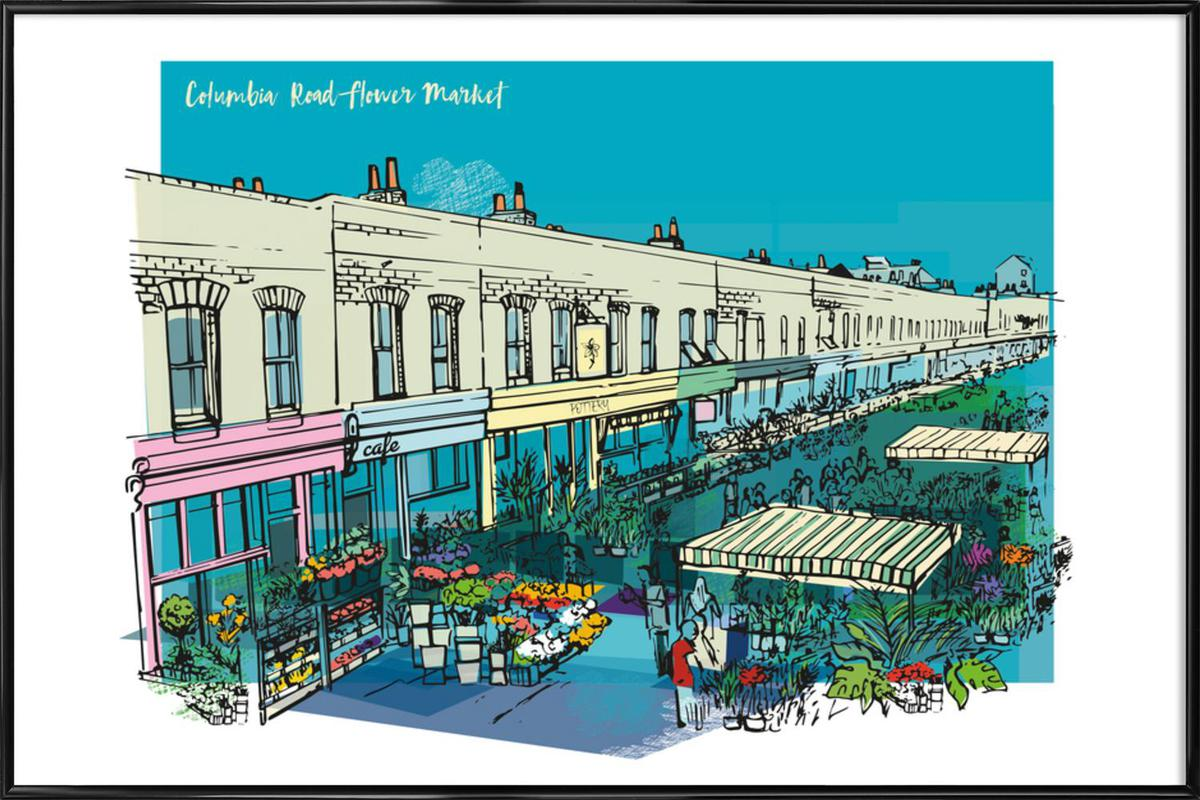 Columbia Road Flower Market as Poster in Standard Frame | JUNIQE UK