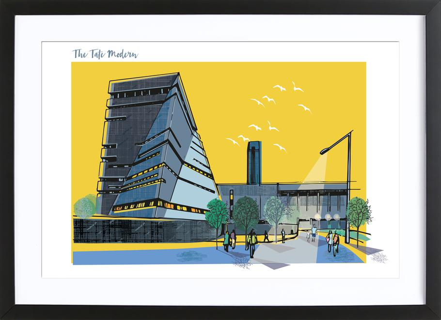 Tate Modern as Poster in Wooden Frame by Rocket68 | JUNIQE UK