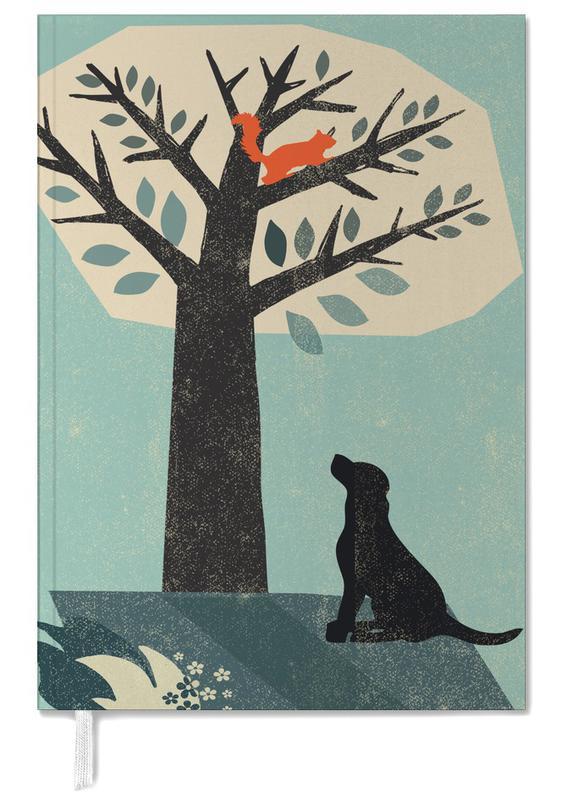 dog and squirrel als terminplaner von rocket68 juniqe. Black Bedroom Furniture Sets. Home Design Ideas