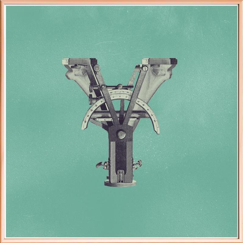 Steampunk Alphabet Letter Y as Poster in Aluminium Frame | JUNIQE