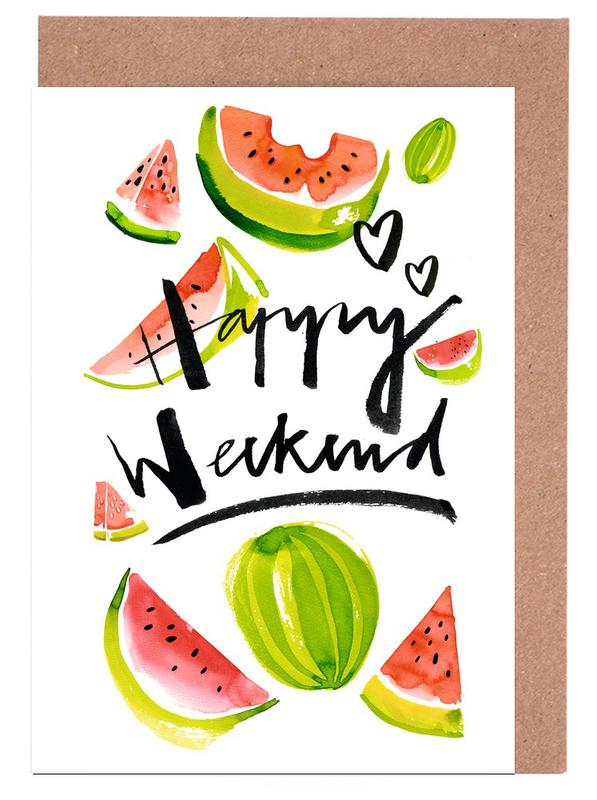Happy weekend as greeting card set by ekaterina koroleva juniqe home stationery greeting cards m4hsunfo
