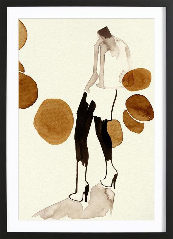 Silhouette 01 Als Poster Im Holzrahmen Von Ekaterina Koroleva Juniqe