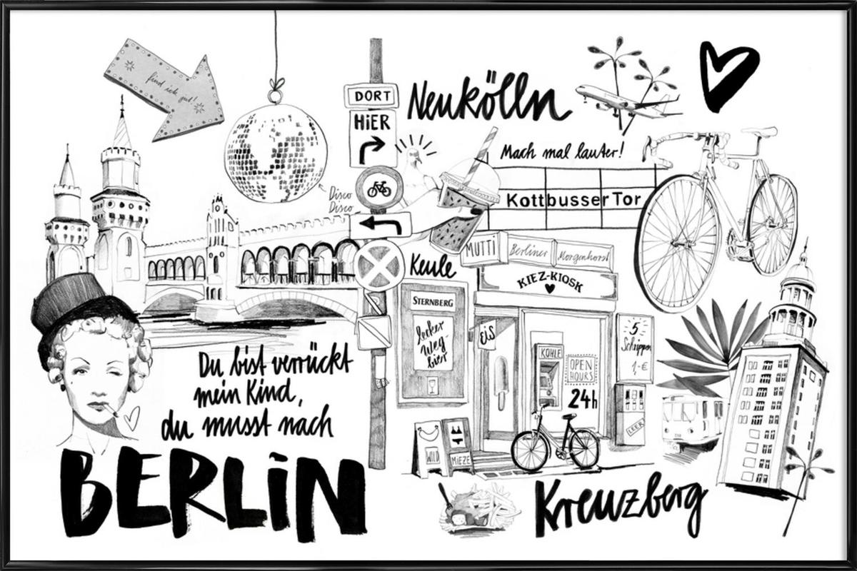 BERLIN 1 as Poster in Standard Frame by Ekaterina Koroleva | JUNIQE