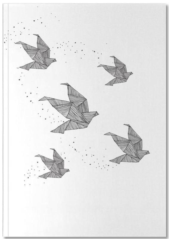 Origami Birds As Premium Notebook By Anika Merten Juniqe