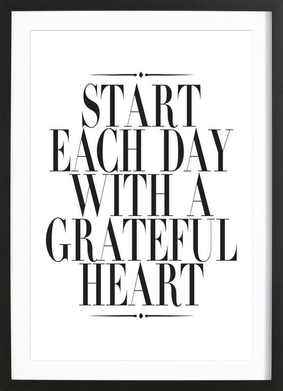 Start Each Day as Poster in Wooden Frame by Honeymoon Hotel   JUNIQE