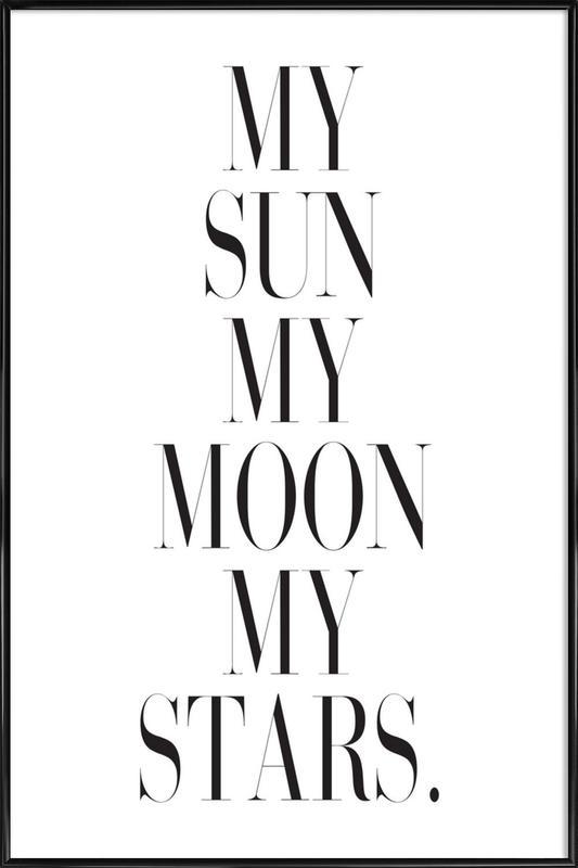 My Sun My Moon As Poster In Standard Frame By Honeymoon Hotel Juniqe