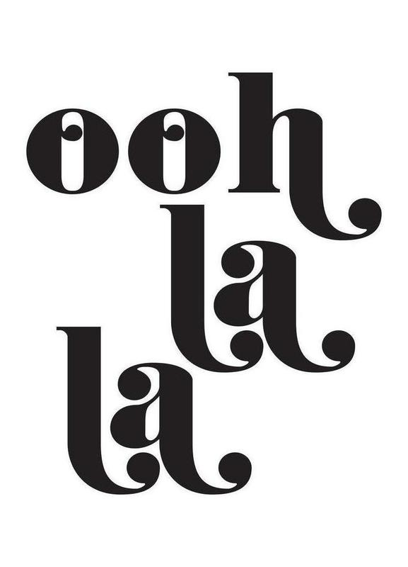 ooh la la as canvas print by honeymoon hotel juniqe rh juniqe com oh la la clip art Paris Cafe Clip Art