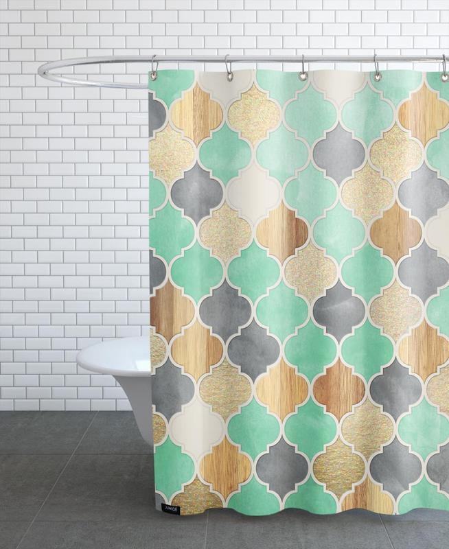 Textured Moroccan Pattern Shower Curtain