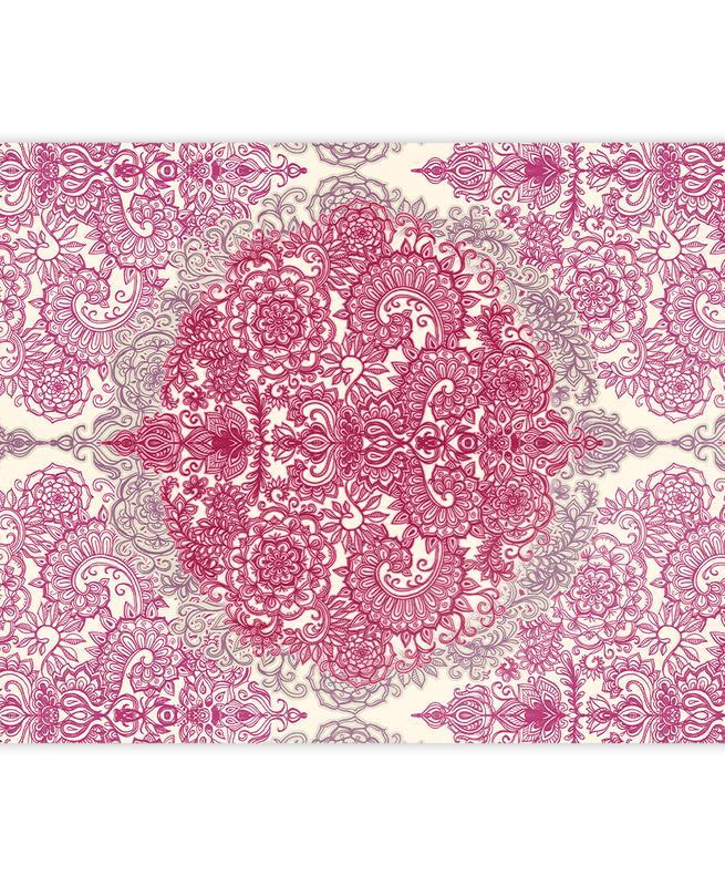 Happy Place Doodle in Pink som Presentpapper  76e32943130d8