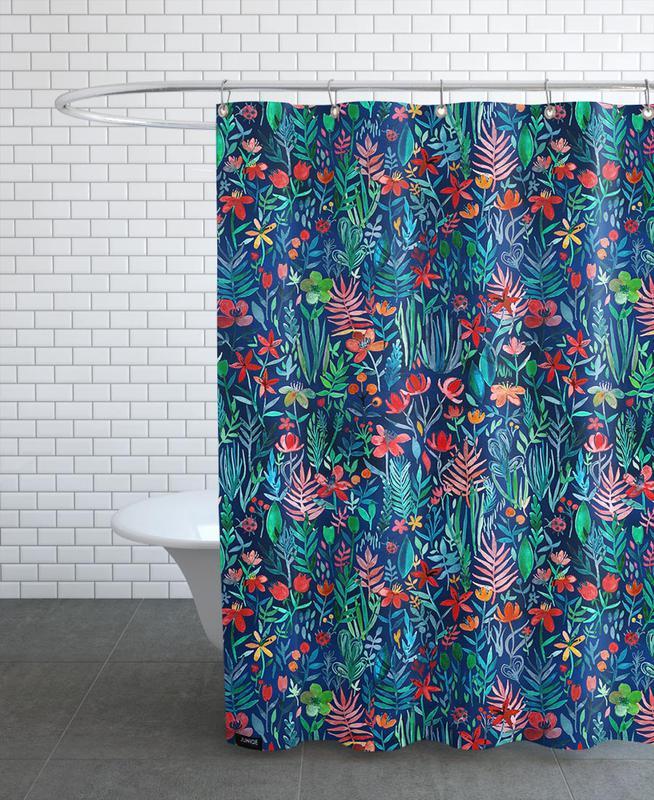 tropical ink en rideau de douche par micklyn le feuvre. Black Bedroom Furniture Sets. Home Design Ideas