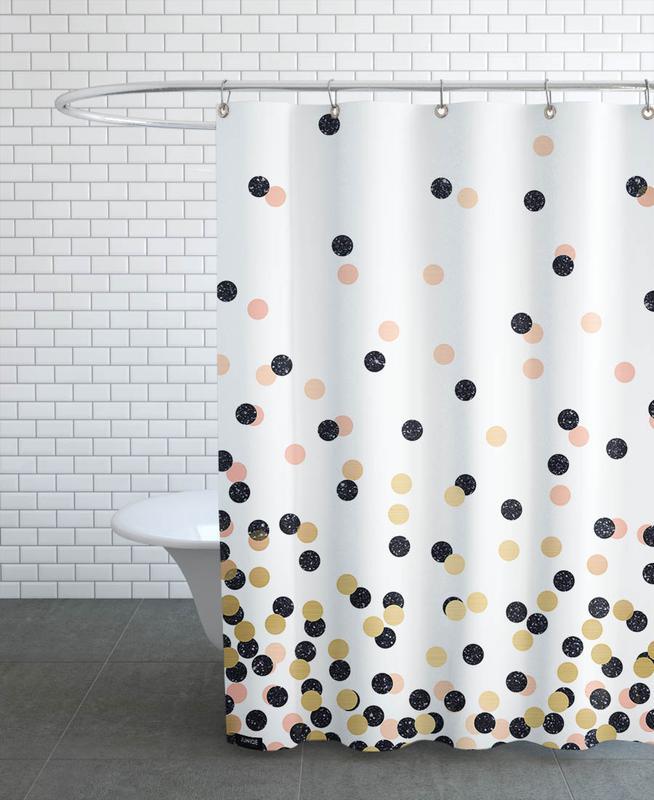 Designer Duschvorhänge polka dots als duschvorhang cafelab juniqe