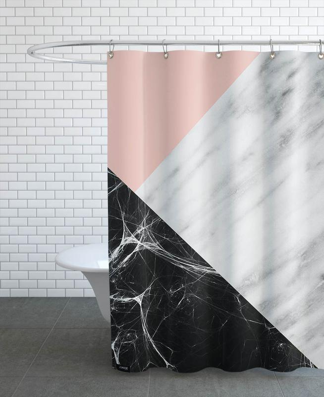 Marble Collage As Shower Curtain By Cafelab