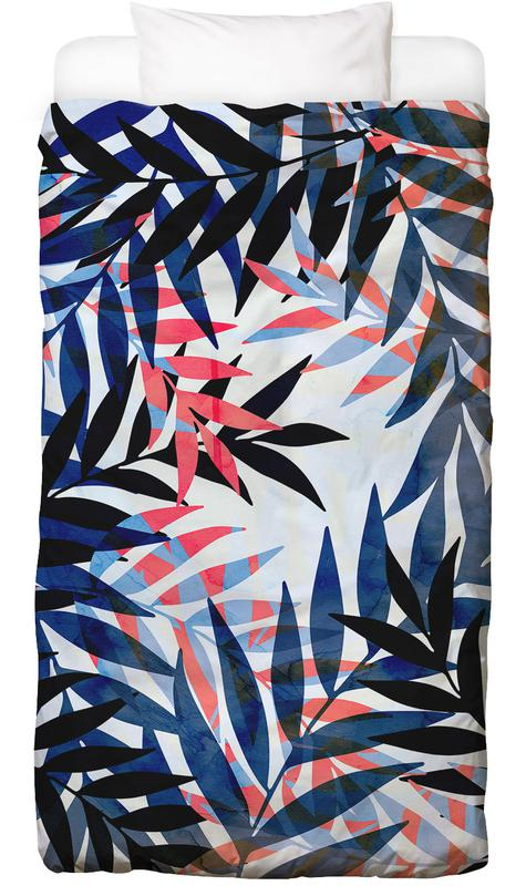 tropical leaves en linge de lit par cafelab juniqe. Black Bedroom Furniture Sets. Home Design Ideas