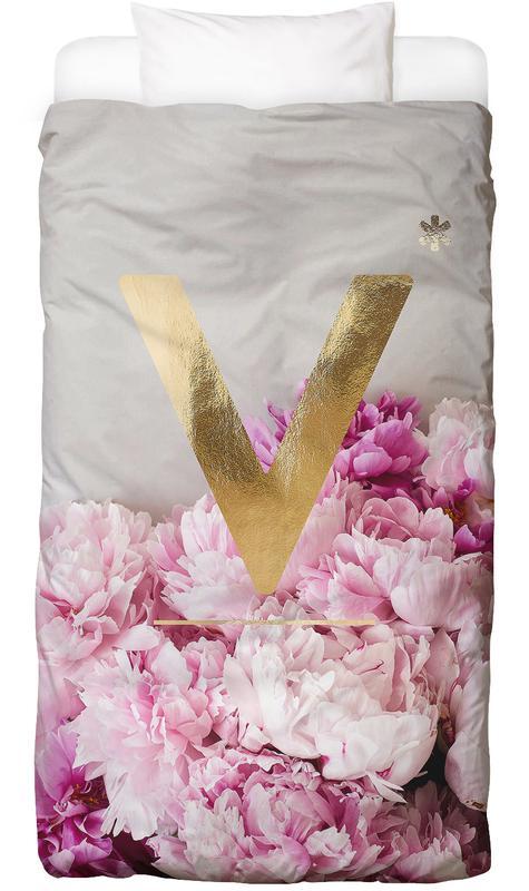 flower alphabet v als bettw sche von neon fotografie juniqe. Black Bedroom Furniture Sets. Home Design Ideas