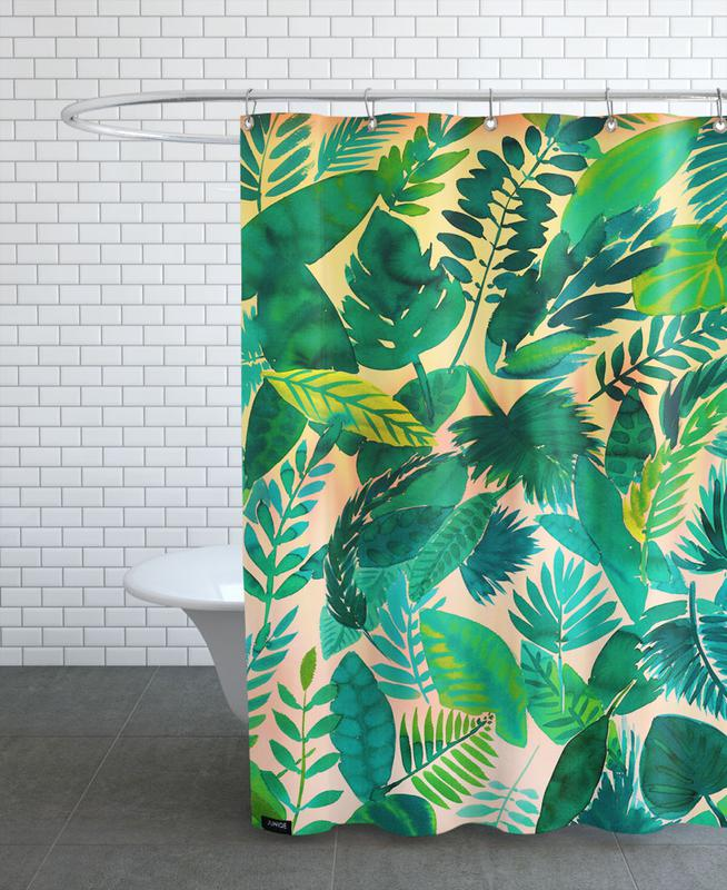 Jungle Leaf As Shower Curtain By Amy Sia