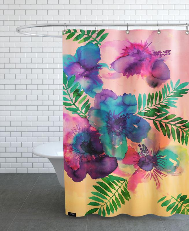 Skye Hibiscus Floral As Shower Curtain By Amy Sia Juniqe Uk