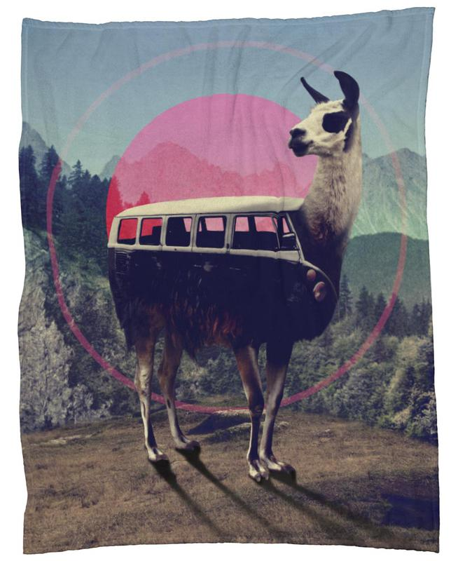 Llama As Fleece Blanket By Ali Gulec JUNIQE UK New Llama Throw Blanket