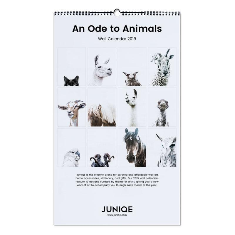 An Ode to Animals 2019 Wall Calendar | JUNIQE