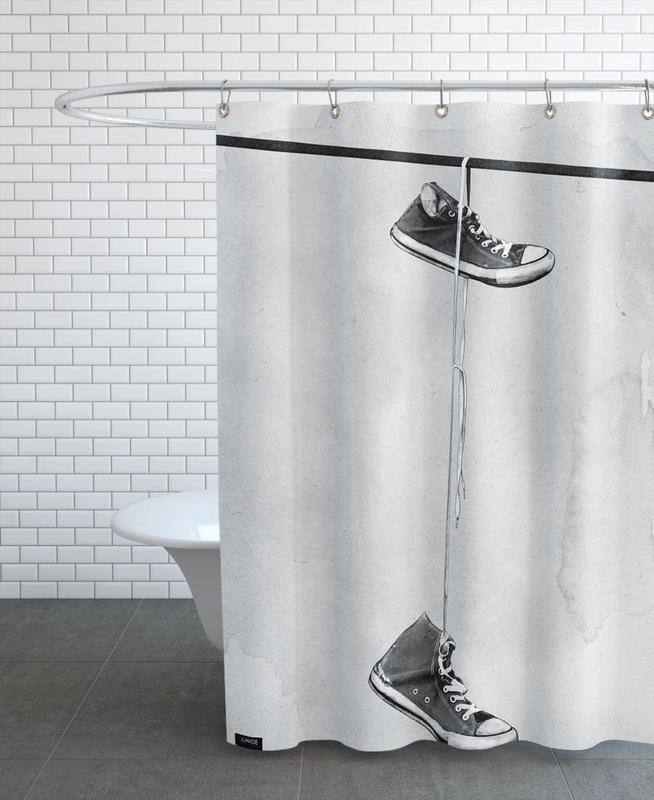 hanging als duschvorhang von leemo juniqe. Black Bedroom Furniture Sets. Home Design Ideas