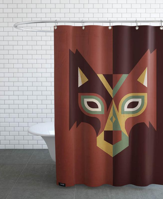 Wolf Shower Curtain By Oscar Odd Diodoro