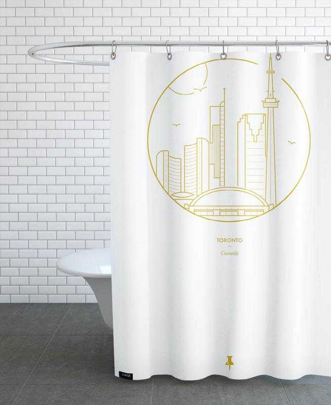 Toronto as Shower Curtain by Dean Robert Smith | JUNIQE