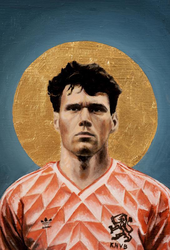 Football Icon Marco Van Basten As Aluminium Print Juniqe