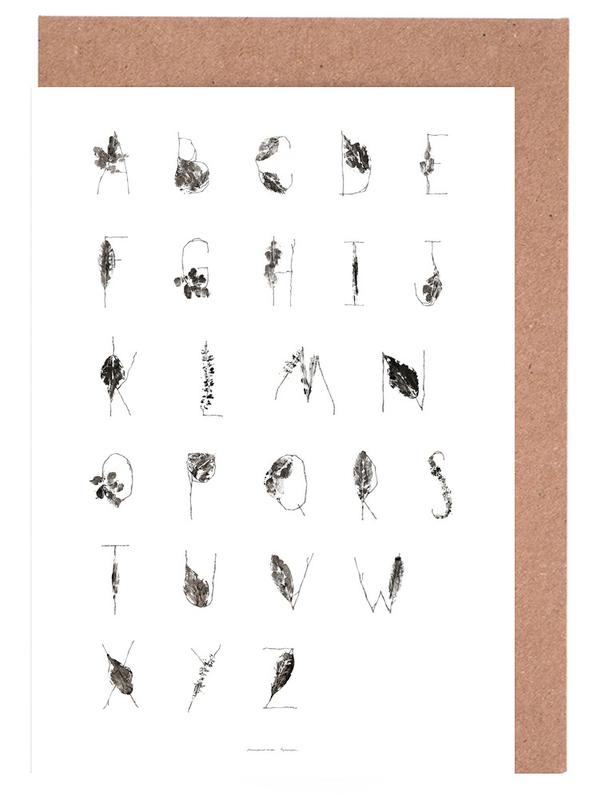 Abc as greeting card set by marina guiu juniqe home stationery greeting cards m4hsunfo