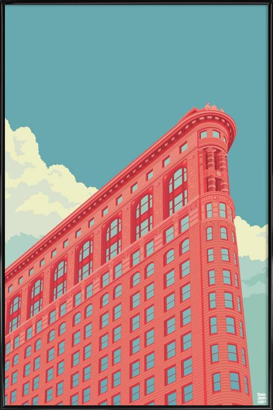 Flatiron Building New York City as Poster in Standard Frame | JUNIQE