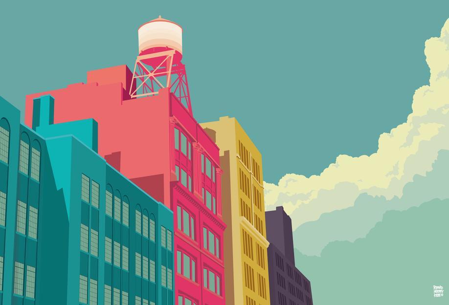 east 10th street new york city als acrylglasbild juniqe. Black Bedroom Furniture Sets. Home Design Ideas