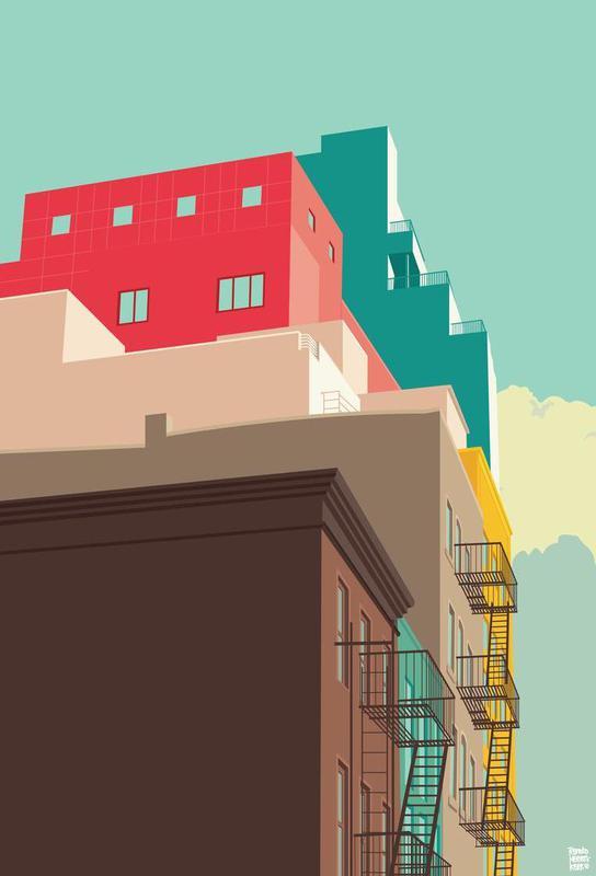 lower east side new york city als acrylglasbild juniqe. Black Bedroom Furniture Sets. Home Design Ideas