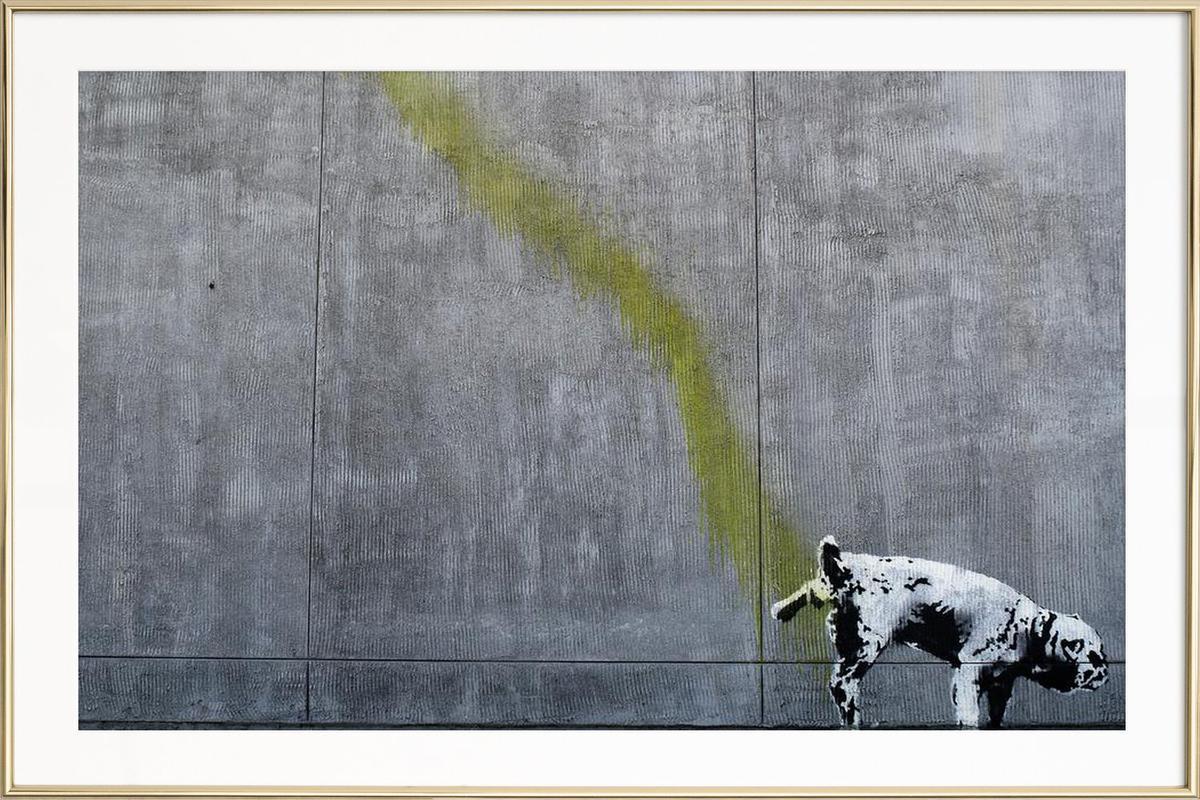 Pissing Dog als Poster im Alurahmen von andem | JUNIQE