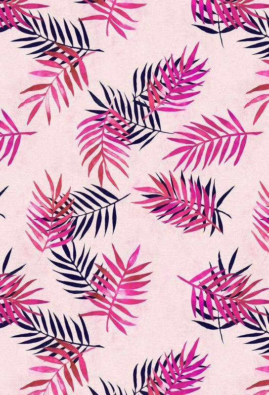 Pink Palm Pattern som Akrylglastavla av Micklyn Le Feuvre  fc389371ee215