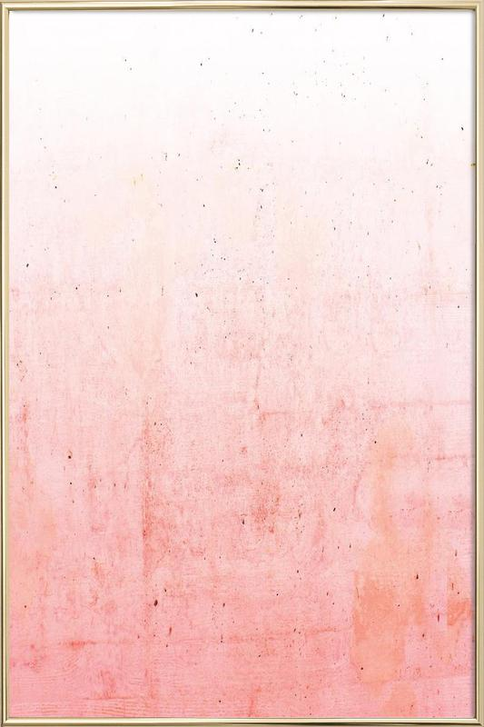 pink ombre as poster in aluminium frame by cafelab juniqe