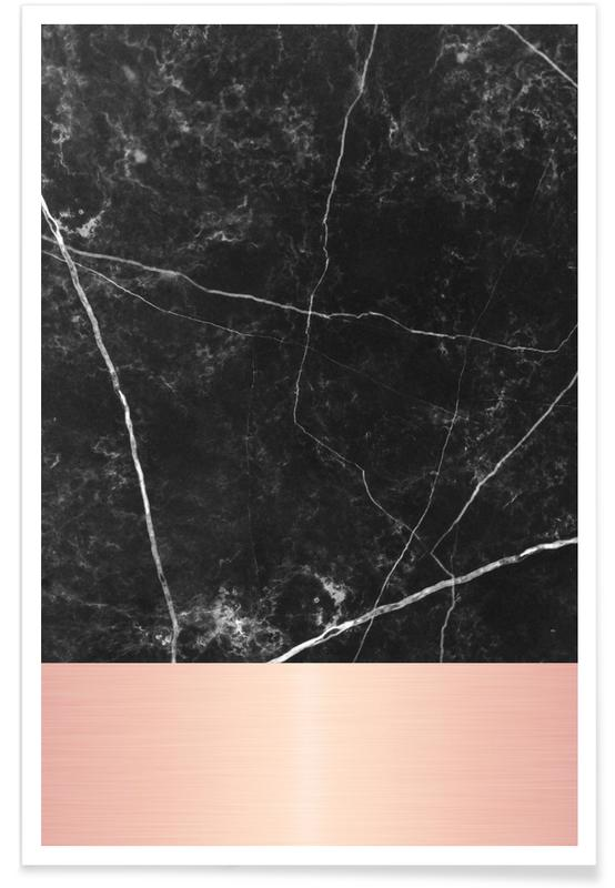 Black Marble Pink Edition Als Poster Door Cafelab Juniqe