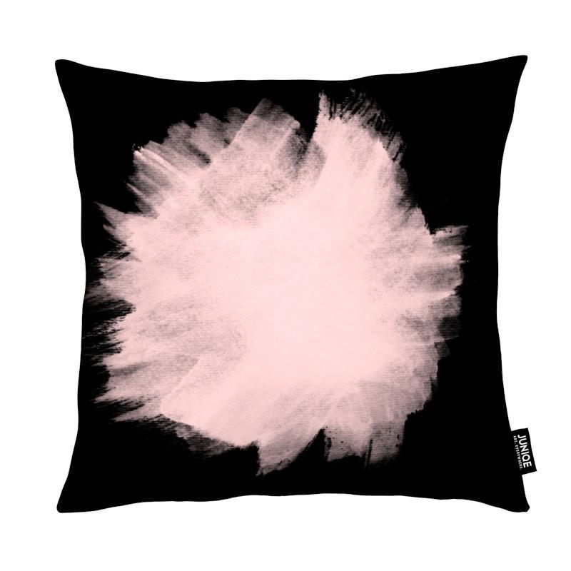 pink stain on black als kissen von cafelab juniqe. Black Bedroom Furniture Sets. Home Design Ideas