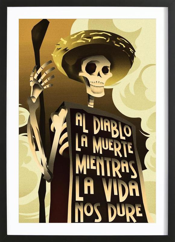 Day Of The Dead As Poster In Wooden Frame By Rodolfo Reyes Juniqe