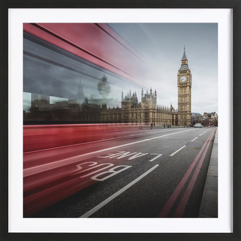 London - Big Ben as Poster in Wooden Frame | JUNIQE